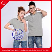 custom fashion couple polo shirts design for lovers