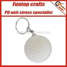 Promotional giveaways cusotm golf ball stress ball keyrings