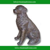 Alibaba Uae bronze little girl carry dog sculpture