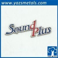 custom logo metal Letters enamel emblem car