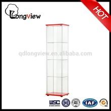 Modern glass-door display cabinet(red)