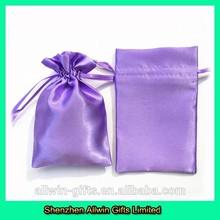 Light purple satin hair bag for packing