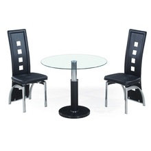 kitchen table set modern glass top marble base round dining table