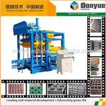 QT4-25 dongyue auto small brick machine and concrete paving block making machine