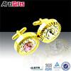 Custom design metal rhinestone cufflink sets