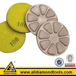 Epoxy Concrete Wet Polishing Diamond Resin Pad for Grinding Concrete