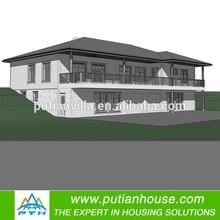 Prefab low cost steel house for turn key project
