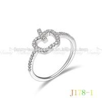 J178 Fine Jewelry 2015 Trendy Fashion Diamond Engagement Ring Wedding Ring