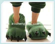 customize high quality plush animals slipper
