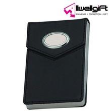 customized black pu leather ID name card case