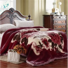 Cheap sale of Printed polyester carved blanket