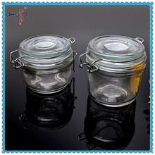 Clip top glass jars glass jam jar 100ml