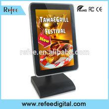 andriod game player tabletop retail advertising, restaurant menu board