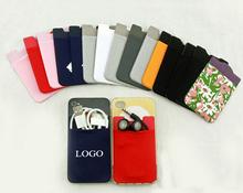 Custom Logo Print Promotional credit card holder case for cellphone