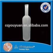 Bordeaux cork top frost glass 750ml wine bottle sale