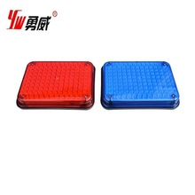 Red and blue big square led strobe light emergency police light