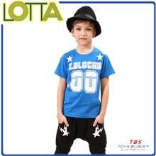High quality 100% cotton summer cheap children clothing boys printed plain t-shirts