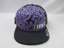 2015 hot sale custom sports mesh back digital print front panel embroidery snapback flat peak caps/hats