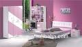 Jisheng alta qualidade adolescente de móveis guarda-roupa com cores mais com tv armário de madeira do painel