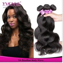 3Pcs/lot brazilian body wave human hair 16 inch hair weft