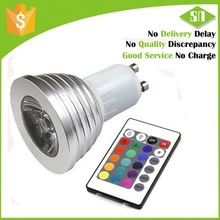 GU10 3W RGB LED Spotlight 125V AC club using color changing factory best price with remote controller