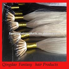 Hair factory wholesale virgin hair ,professional top grade nano ring hair extension