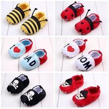 HFR-S1531212 Wholesale kids shoes 2015 fashion cartoon cotton baby footwear
