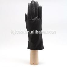 Fashion Women Basic Black Sheep Leather Dress Gloves