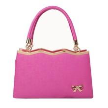 Fashion pu leather hard tote bag for women