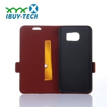 Competitive price + timely delivery six color available with short buckle and card slots design for samsung s6
