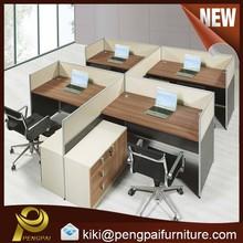 4 person Melamine staff desk computer workstations
