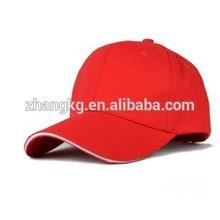 OEM sandwich 6 panel baseball cap,100%cotton high quality baseball caps in China