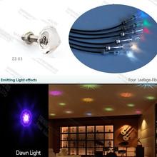 ZZ-03 12pcs fiber optic crystal end fitting for star starry sky night light effect