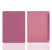 Fashion style untrl thin flip leather case for iPad 6 with sleep function