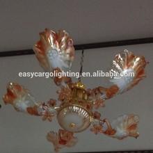 gold colored leaf chandelier ,decorative glass leaf chandeliers
