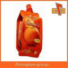 Excelente calidad precio competitivo personalizado de plástico pitorro, Bolsa surtidor para la jalea y jugo de embalaje