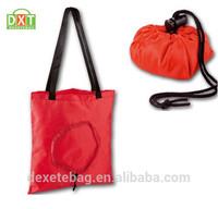 foldable shopping bag and 190d nylon folding shopping bag