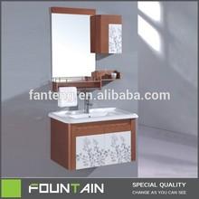 Cheap Wood Color Lavatory Furniture PVC Bathroom Furniture Wholesaler