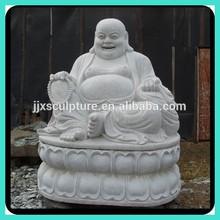 Marble Stone Laughing Buddha Statue