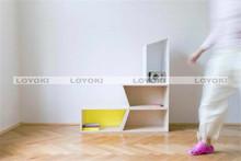 decorative wooden wall cube shelves design best selling colorful steel bookshelf