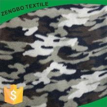 camo printed polar fleece fabric /100 polyester brushed garment fleece