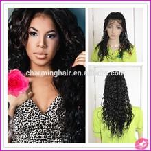Aliexpress china manufacturer 100 human hair wavy wigs virgin brazilian hair wavy full lace wig for black women