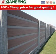 Good quality Europe Popular Anti-UV Waterproof Wood Plastic Composite Board Outdoor Garden WPC Fence