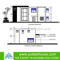 dos historias de lujo de prefabricados de estructura de acero casa residencial
