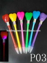 wedding giveaways / LED pen with led light / heart pen P03