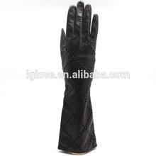 Fashion Women Long Sheep Leather Dress Gloves