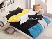 Reversible Solid colorful comforters bedsheet sets for US market