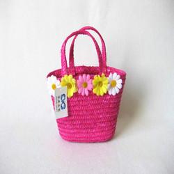 child picnic bag,child flower crochet bag,child beach bag