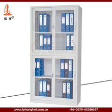 Luoyang Manufacture steel file storage Display cupboards 2015 new design width Filling hardware metal sliding glass door cabinet