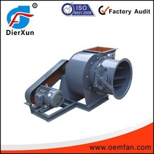 Steam fan blower for high temperature exhaust gas